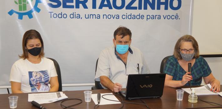 Secretários municipais em audiência virtual de apresentação da Lei de Diretrizes Orçamentárias (LDO) do município, para o exercício de 2021