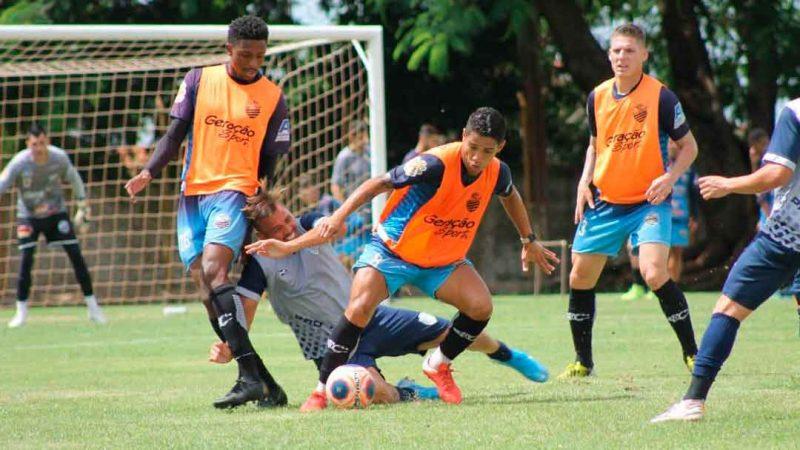 O time comandado por Fahel Júnior enfrentou o Monte Azul em jogo-treino e venceu por 3x1. Pitbull, Alex Moraes e Lucas Shallon marcaram para o Bafo.
