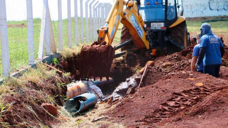 INTERLIGAÇÃO DE ÁGUA PARA A FASE II DO PQ TECNOLÓGICO. A Diretoria Técnica do Daerp realizou o projeto de infraestrutura de água e esgoto