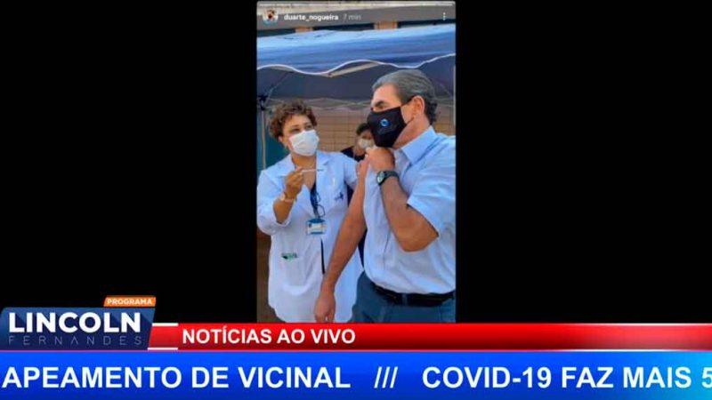 PREFEITO DE RIBEIRÃO É VACINADO NA MANHÃ DESTA QUARTA FEIRA (16)