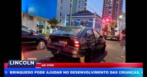 NA CIDADE DE SÃO CARLOS UMA MULHER FICOU FERIDA APÓS ENGAVETAMENTO