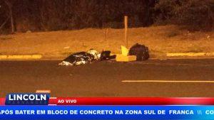 ENTREGADOR MORREU APÓS BATER EM BLOCO DE CONCRETO NA ZONA SUL DE FRANCA