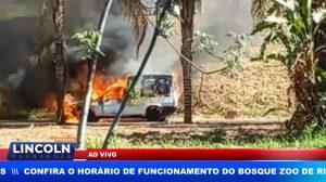 FURGÃO PEGA FOGO NA VIA NORTE EM RIBEIRÃO PRETO