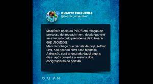 NOGUEIRA QUER IMPEACHMENT DE BOLSONARO