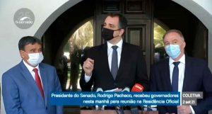 RODRIGO PACHECO FALA SOBRE ENCONTRO COM GOVERNADORES, DEFENDE A DEMOCRACIA E MANDA RECADO IMPORTANTE