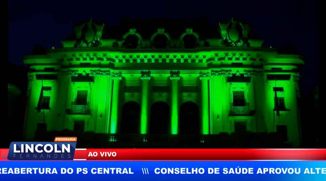 SETEMBRO VERDE, THEATRO PEDRO II RECEBE ILUMINAÇÃO ESPECIAL NO MÊS DA PESSOA COM DEFICIÊNCIA